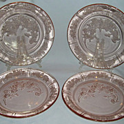 SALE PENDING Lot of Sharon Pink Depression Glass Dinner Plates