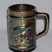 Asbury Park NJ New Jersey Dugan Carnival Glass Fishermans Mug 1910
