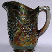 Imperial Grape Carnival Glass Pitcher Real Beauty!