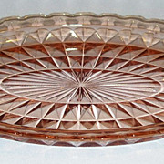 Windsor Pink Depression Glass Oval Platter