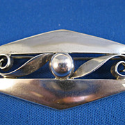 Sterling Handwrought ~ KALO Brooch ~ Arts & Crafts Silver Pin
