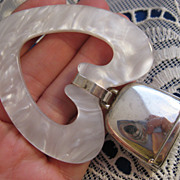Vintage Monogram Ready ~ Sterling Silver Baby Rattle ~ Heart Teething Ring