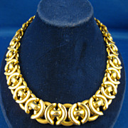 14K Yellow Gold ~ Bold Chain Necklace ~ 32.4 Grams Made in Italy