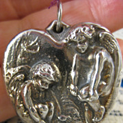 Henryk Winograd ~ Chilly Cherubs Heart Pendant ~ HW925 Sterling Silver