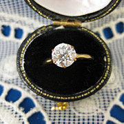 14K Gold ~ 1915-1920's Antique Diamond Solitaire Ring ~ 1.23 CT Size 6.5