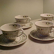 Royal Doulton Provencal cups & saucers