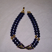 Napier Runway Style Enamel & Glass Bead Necklace