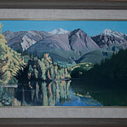 SOLD Vintage Gilbert Smith Oil Painting Alaska Mountains Signed