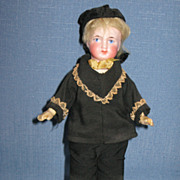 SALE Antique German Bisque Belton Style Doll in Original Clothing 8 Inches