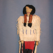 SALE Vintage Native American Indian Doll