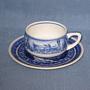 SALE Baltimore and Ohio Railroad Demi Tasse Cup and Saucer Original 1927 Issue