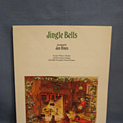 SALE Tasha Tudor Illustrated Sheet Music Jingle Bells 1972