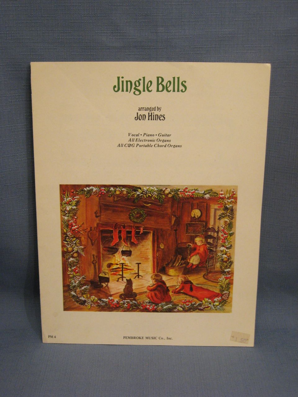 Tasha Tudor Illustrated Sheet Music Jingle Bells 1972