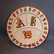 SALE Tiffany and Company Alphabet Bears ABC Children's Plate
