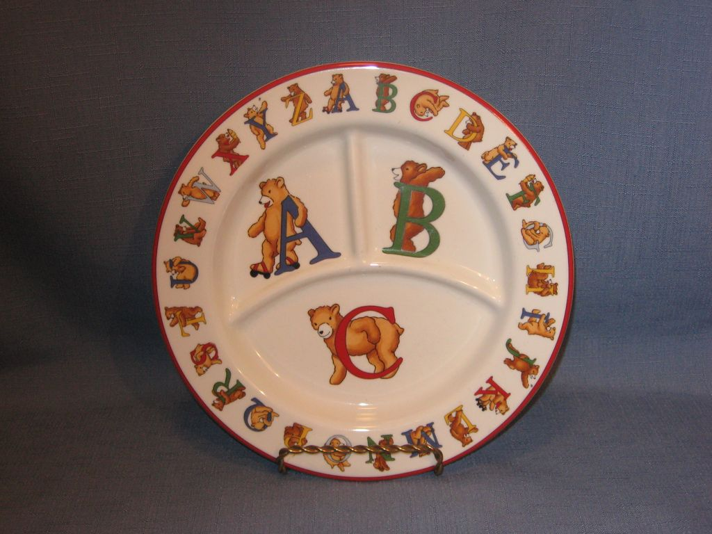 Tiffany and Company Alphabet Bears ABC Children's Plate