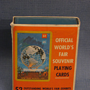 SALE 1964 New York World's Fair Playing Cards Mint in Original Package