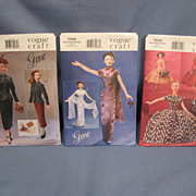 3 Mint Gene Doll Vogue Patterns