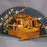 Vintage Fan Hand Painted Excellent Condition