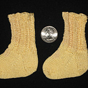 Hand Knit Socks for French Bebe Jumeau Bru Steiner