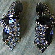 Stunning Vintage Rhinestone Earrings