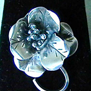 Vintage Sterling Brooch Marked Hobe