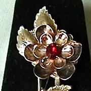Vintage Sterling Flower Pin