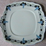 Pretty English Bone China Cake plate