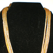 Vintage Goldtone Mesh Necklace