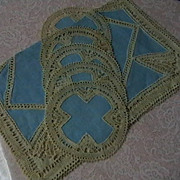 Vintage Rectangular and Round Doilies
