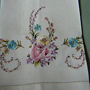 "Embroidered Vintage ""show towel"""