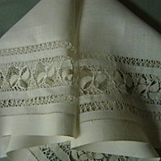 Vintage Cloth with Drawn Work Embroidery