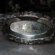 Vintage English Silverplate Horse Show Trophy dated 1949