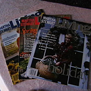 Martha Stewart Living Magazines 3 issues 1991