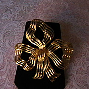 Large Bow Brooch Marked MONET