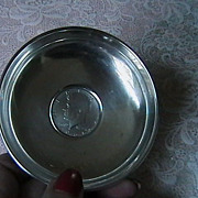 Sterling Dish with 1965 Kennedy Half Dollar