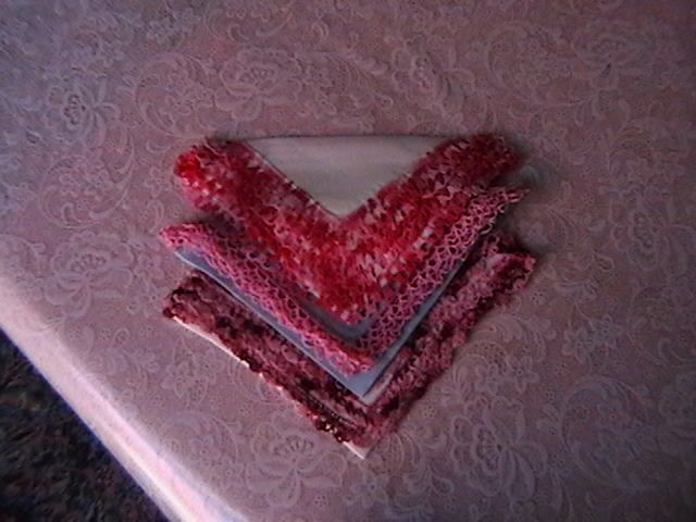 Hankies with Hand Crocheted Borders