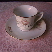 Porcelain Demitasse Cup and Saucer marked Czechoslovakia