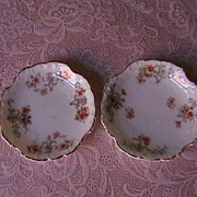 "Pair of Porcelain ""Butter Pats"" marked Germany"
