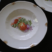 Pair of Beautiful Fruit Plates with Colorful Fruits Decorating the Centers