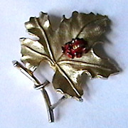 Vintage  Brooch with Ladybug marked Sarah Coventry