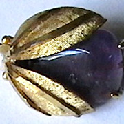 "Large Vintage ""bug brooch"" marked ""BSK"""