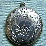 Sterling Locket, nicely engraved