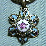 Pretty Vintage Guilloche Enamel Pendant