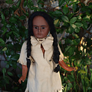 American Indian Bahr & Proschild antique doll marked 244 5 1885 Totally original!