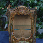 Rare Antique French doll cabinet/vitrine 1880