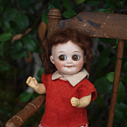 Original German Googlie antique doll marked 323 A 6/0 M - 1910