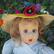 Gorgeous 1930's Lenci doll googlie googly glass eyes great conditions! VERY RARE!