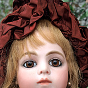 REDUCED Stunning Antique French doll Bru jeune 1882 Size 9