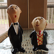 Piel's Brothers Bert & Harry Figural Salt and Pepper Shakers