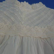White Christening Gown for Bisque Doll